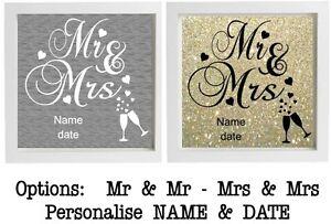 Mr Mrs Wedding Sticker Vinyl Sticker For Ikea Ribba Box Frame