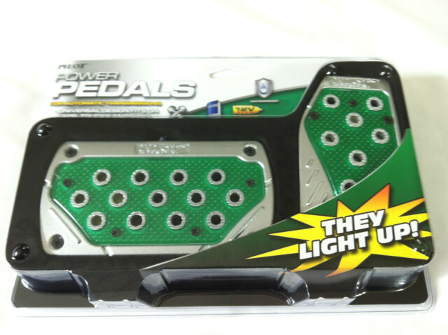 12v Toyota Racing Lighted Foot Pedals Pad Covers Auto Transmission A/T