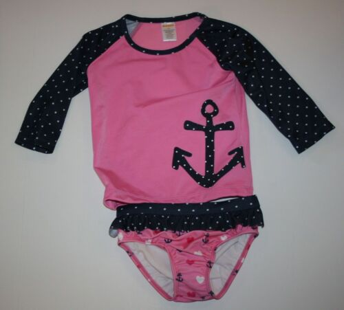 NEW Gymboree Outlet Pink Navy Polka Dot Anchor Swimsuit NWT 2T 3T 4T 5T 2 Piece