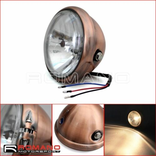 """Brown 6.3/"""" Motorcycle Retro Headlight Projector For Harley Chopper Cafe Racer"""