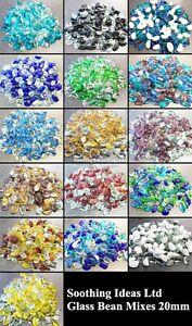 Purple Plum Crystal Glass Pebble Mix 20mm Various Weights Home Garden Wedding