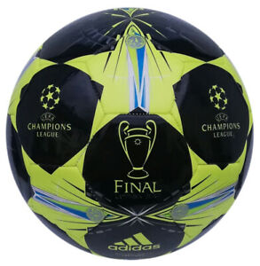 Details zu Adidas Finale Champions League Fußball schwarz silber Größe 5 Ball Trainingsball