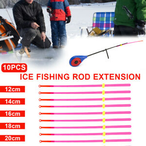 Lot Of 15 Winter Ice Fishing Rod Top Tip Fishing Tackle Extension Pole Slices