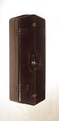 NIB LEVITION DECO RIBBED BAKELITE BROWN SINGLE TOGGLE SWITCH COVER