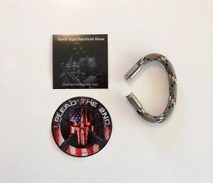 Bullet Casing Paracord Bracelet...Tru<wbr/>mp...2nd Amendment...Ni<wbr/>ckel 9m..Desert Camo