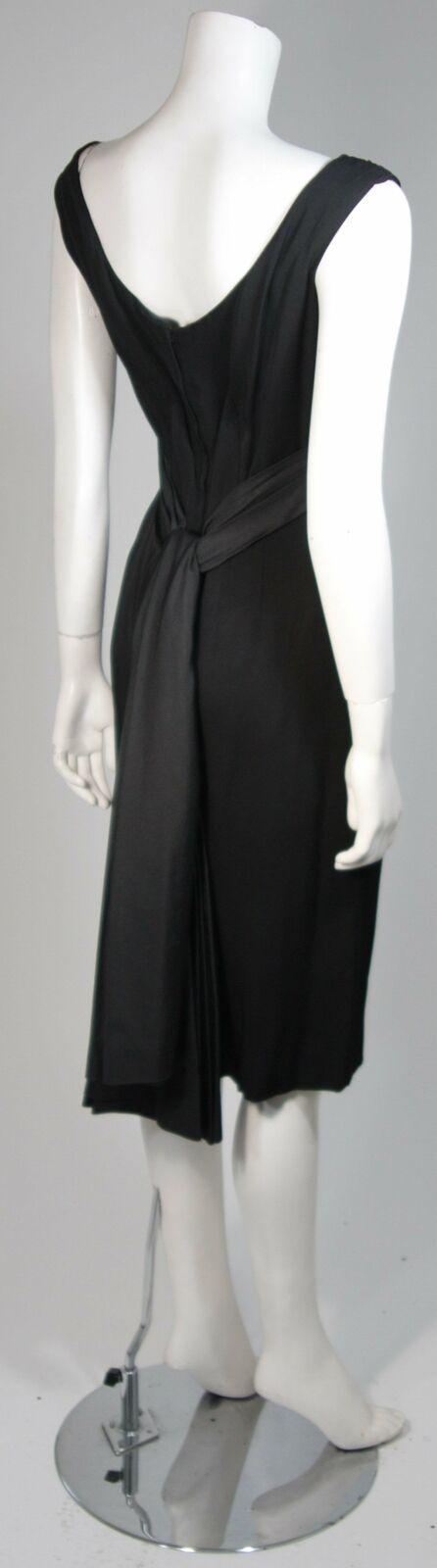 CEIL CHAPMAN 1950s Black Draped Cocktail Dress Si… - image 9