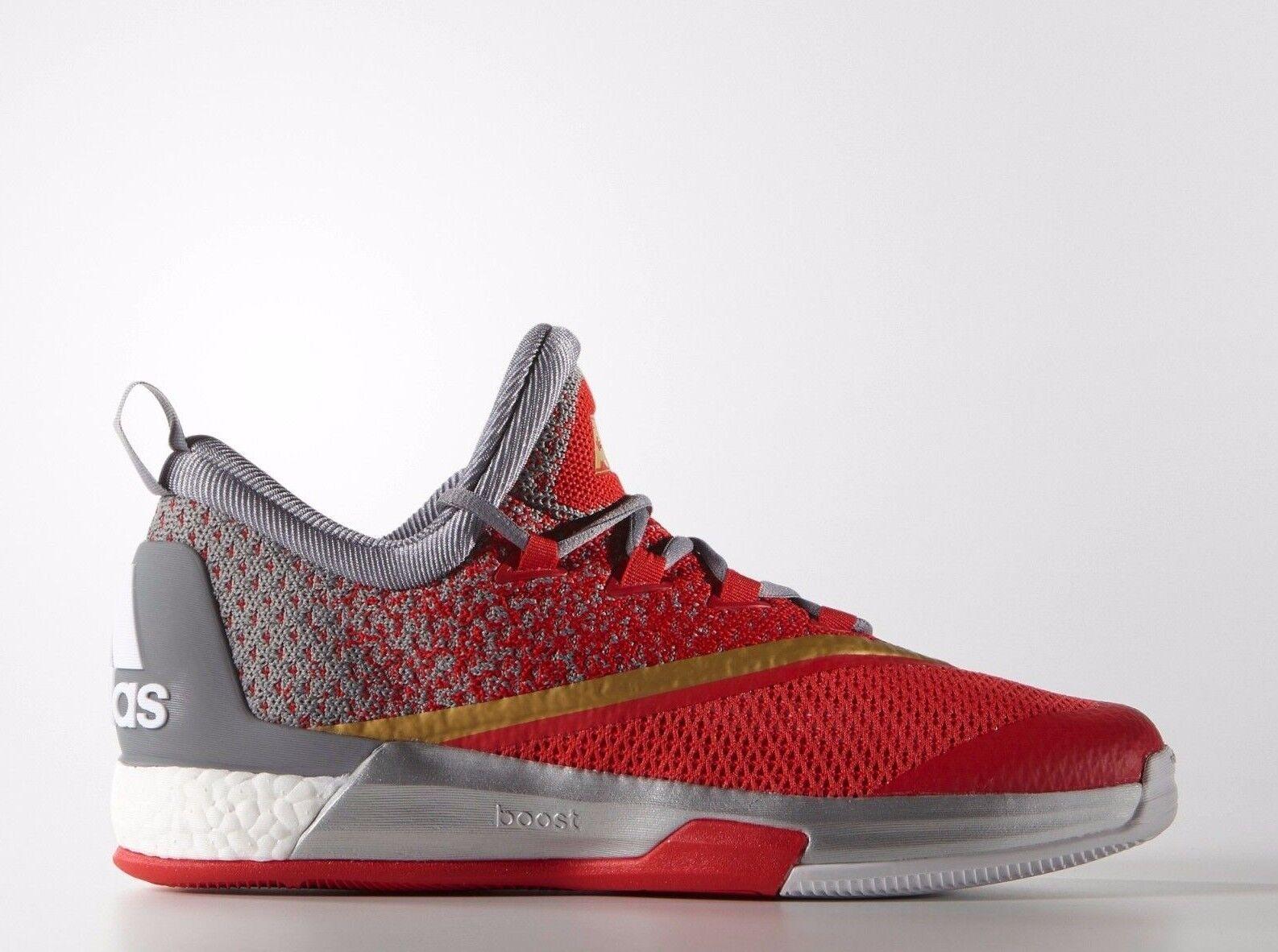 Adidas Crazylight Boost 2.5 Uomo Basketball Shoes White/Grey/Vivid Red AQ8468