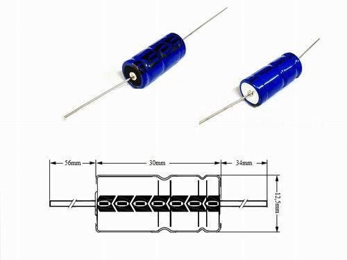 Elko Alu Elektrolytkondensator Axial 680µF 40V 20/% 85° 12.50mm x 30.00mm 2 Stüc