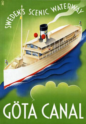 TR51 Vintage Sweden Swedish Travel Poster Art A1 A2 A3