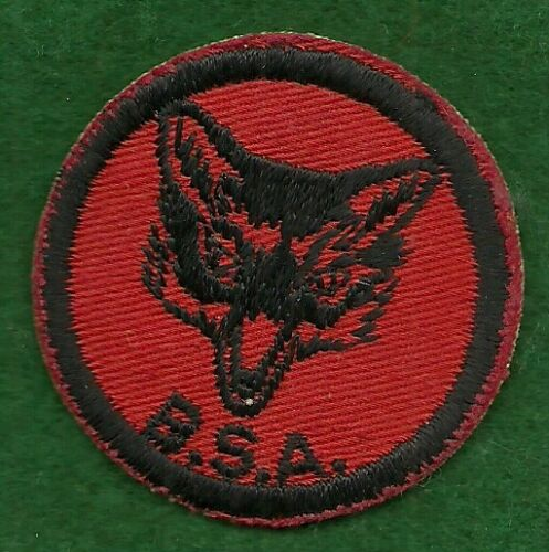 VINTACE BOY SCOUT - RED & BLACK FOX PATROL PATCH - NEW
