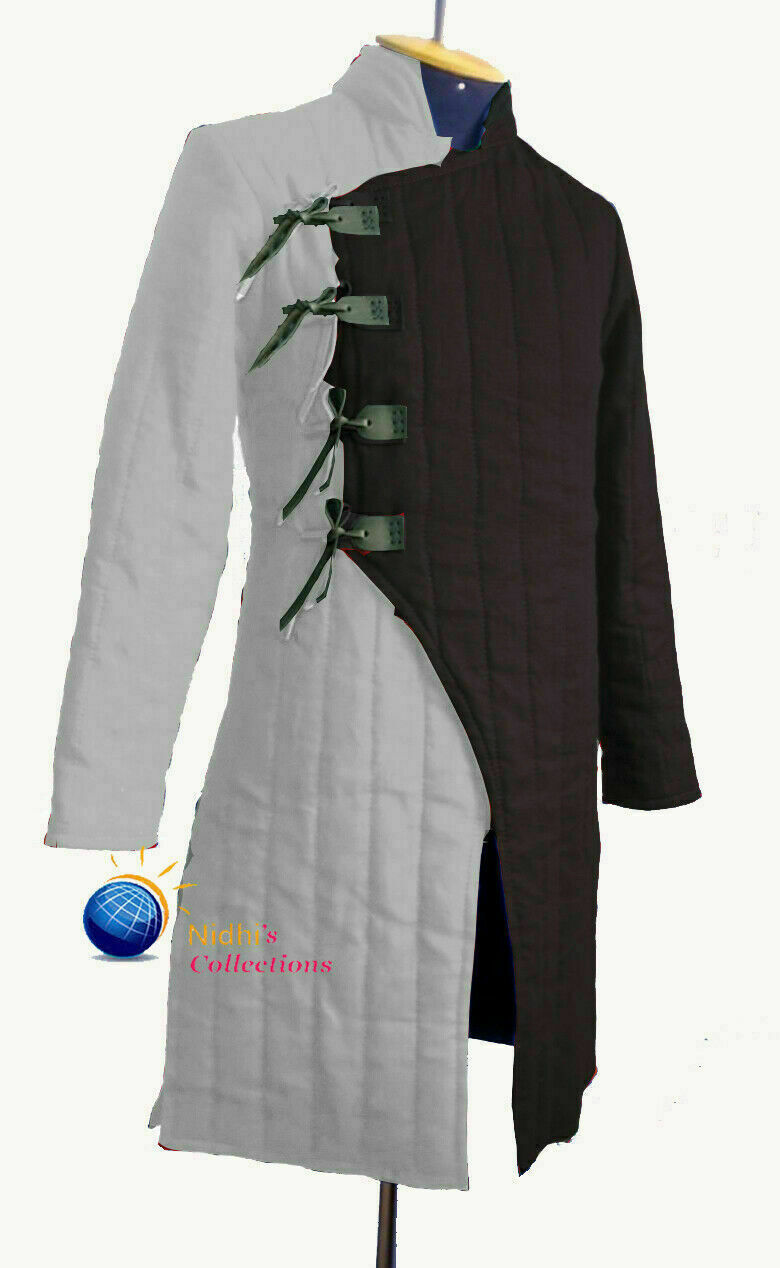 Halloween Medieval Thick Padded Full Length Sleeves Jacket Gambeson Costume