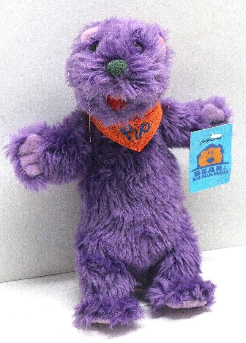 VTG Bear in in in the Big bluee House Pip 9  Plush Otter Stuffed Animal New w  Tags ab8ee9