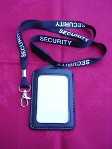 Genuine Leather ID Pass Card//Badge Holder+Belt Clip,Police//SO19//Security//SIA P