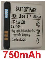 Batterie 750mAh type AB483640BE AB483640BEC Pour Samsung SGH-J600