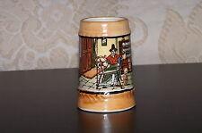 Miniature Beer Mug Stein Ceramic. Welsh Kitchen Scene. Made in Japan. Used