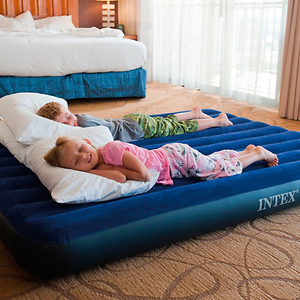 intex airbed inflatable air bed mattress blow up bed queen 600 lbs no taxes 822450928358 ebay. Black Bedroom Furniture Sets. Home Design Ideas