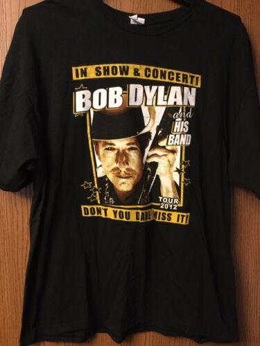 Bob Dylan - Tour 2012 Black Shirt.  2XL.