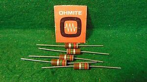 1 5 Pack IRC Carbon Comp 5.6 MEG OHM 1 Watt 5/% Resistors NOS
