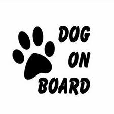 """Dog On Board"" Funny Sticker Car Rear Windshield Truck Auto Bumper Vinyl Decal"