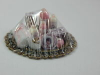 Dollhouse Miniature 1:12 Scale Vanity Tray Lotion Perfume Bottles Z301 Pink-r