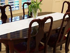 White-Linen-Hemstitched-Table-Runner-16-034-x-90-034-100-Pure-Linen