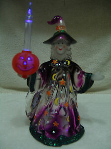 HALLOWEEN HARVEST COLLECTION WITCH W/PUMPKIN BUBBLELIGHT & ORIG BOX FREE SHIP