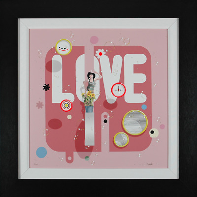 "Philippe Bertho ""Love"", hand-signed serigraph on linen, Framed"