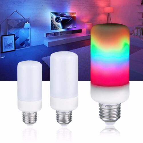 LED Flame Effect Fire Light Corn Bulb E27 E14 Simulated Nature Flicking Lamp