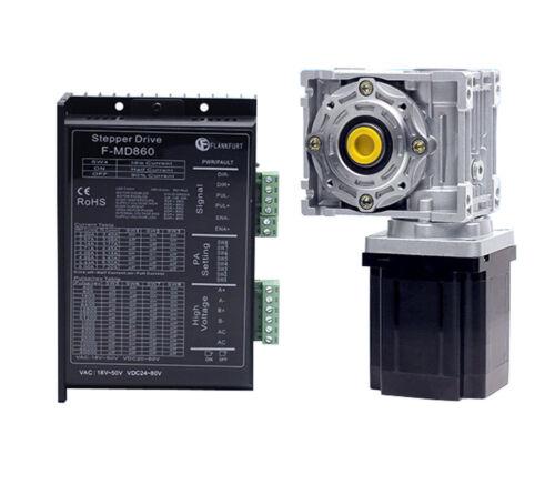 Nema34 Stepper Motor Kit Speed Reducer CNC Turbine Worm Gearbox RV040//050 MD860