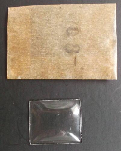 Lion Verre de montre minéral rectangle neuf 21,5 X 17,5 mm
