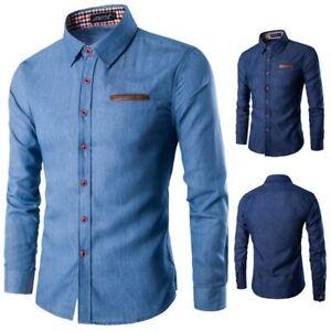 Long-sleeve-slim-fit-formal-t-shirt-floral-men-039-s-casual-dress-shirt-luxury-tops