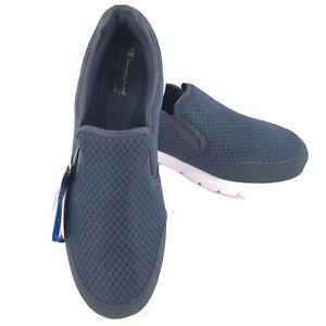 Encore Slip On Shoes Navy White