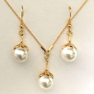 24K-Gold-Plated-Sterling-Silver-Swarovski-Crystal-Pearl-Bridal-Jewellery-Set