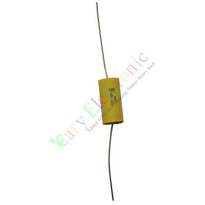 20pc yellow long leads Axial Polyester Film Capacitor 0.1uF 630V tube audio amps