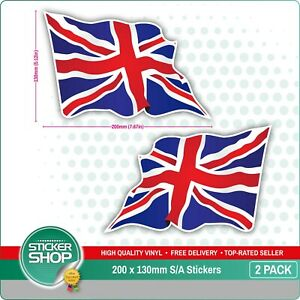 Details About 2 X Large Union Jack Wavy Flag Vinyl Car Van Ipad Laptop Helmet Sticker