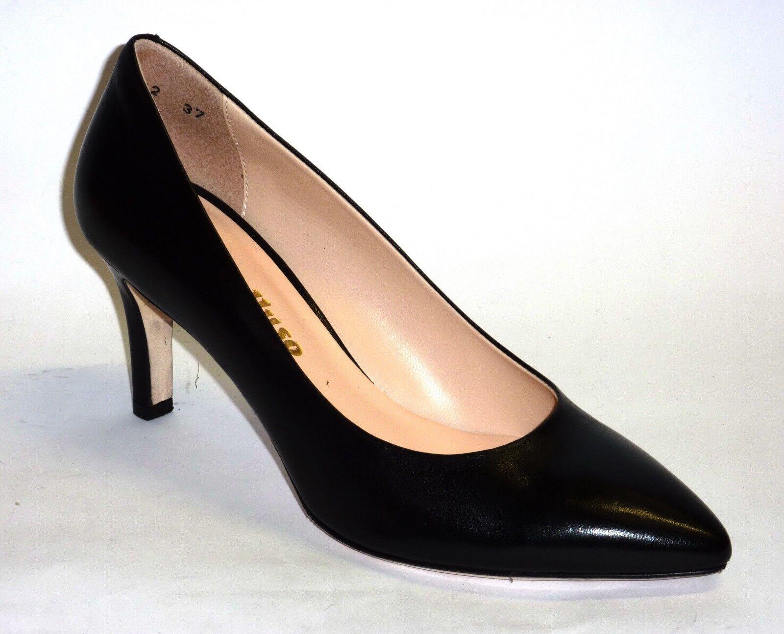 MELLUSO chaussures DECOLLETE' femmes PELLE CAPRETTO noir TACCO MEDIO  n. 38