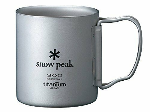 Snow Peak Titanium Double Wall Cup 300 with Folding Handle F/S Japan Import F/S Handle af447e