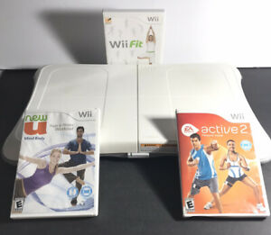 Nintendo Wii Fit Plus Balance Exercise Board w/ 3 Games Bundle Tested!