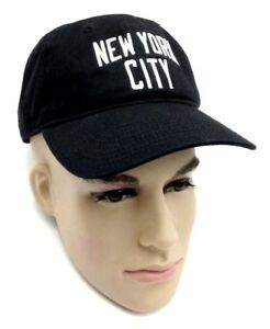 95 MEN WOMEN UNISEX NEW YORK CITY NYC BLACK WHITE BASEBALL CAP ... 26ddb81054c