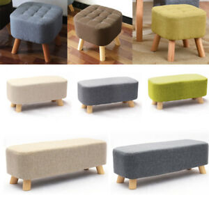 Cool Details About Ottoman Footrest Seat Footstool Chair Luxury Small Wooden Legs Rest Home Office Andrewgaddart Wooden Chair Designs For Living Room Andrewgaddartcom