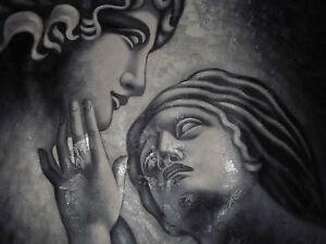 lovers-romantic-couple-oil-painting-canvas-classic-black-white-greek-original