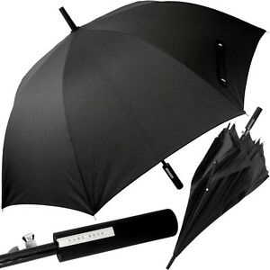 HUGO-BOSS-auto-Partnerschirm-gross-Griff-gerade-XXL-Regenschirm-Golf-Schirm-NEU
