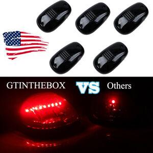 Set 5 Roof Running Light T10 12V 8SMD LED Cab Marker Install Kit For Chevy GMC