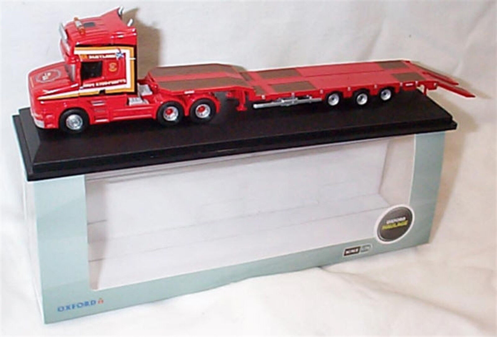 Scania T CAB 3 Axle Nooteboom Semi Low Loader Sandy Kidd 1-76 scale 76TCAB008