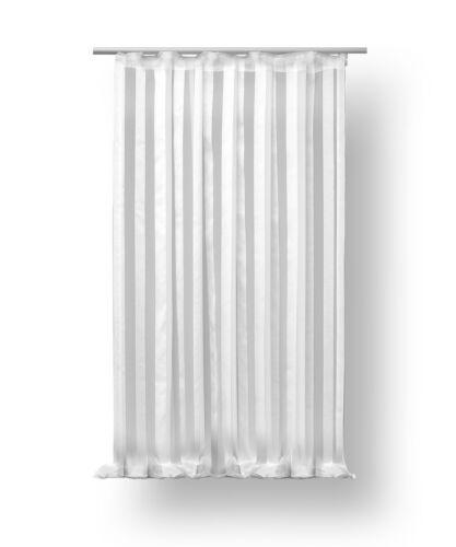 Voile Dekoschal Isa Kräuselband ca 140x145 cm halb transparent Vorhang Gardine