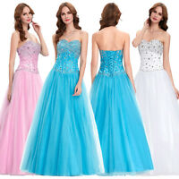 Maxi Princess Ball Gown Full Length Formal Wedding Dress Party Evening Dresses