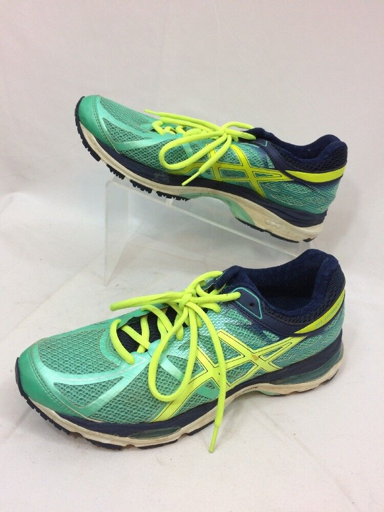 WOMENS ASICS GEL CUMULUS 17 RUNNING SHOES SIZE 9.5 TURQUOISE GREEN blueE T5D8N