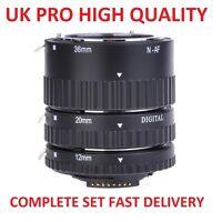 UK Pro Metal AF Auto Focus Macro Extension Tube Set For Nikon Digital SLR Camera