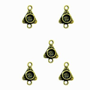 5-Small-Triangle-Bezels-Charms-for-Jewelry-Craft-fill-w-Resin-Paper-Ephemera