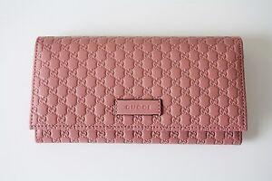 fb8fb7a5d7a05 Das Bild wird geladen GUCCI-449396-Geldboerse-Portemonnaie-Monogramm-rose- Leder-Wallet